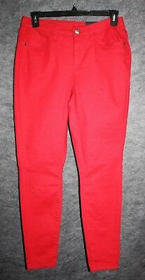 41ae4919db08e LANE BRYANT Red HIGH-RISE Skinny Jegging Jeans Size 14   16 Plus Size