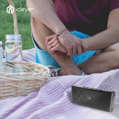 iClever Ultra Slim Portable Water Resistant  Bluetooth Speaker with Mic