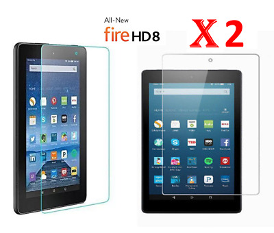 """2 X Clear HD Screen Protector Guard Cover For Amazon Fire HD 8"""" 2016 (6th Gen)"""