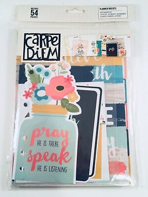 Carpe Diem Planner Inserts, Faith Set, 54 pieces, A5 Dashboards Dividers Pockets