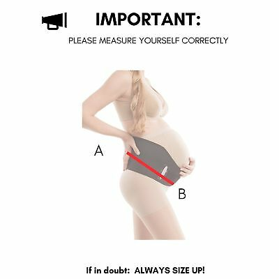 a2fefc7cfd218 Gabrialla Breathable Maternity Belt Pregnancy Support w/Cotton Lining XL