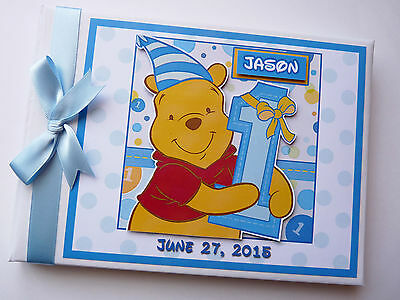Disney Winnie The Pooh 1St Birthday Guest Book - Any Design