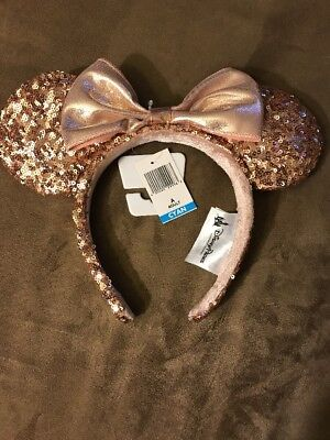 Disney Parks Rose Gold Minnie Mouse Ears! Sells Out Immediately! Mickey Ears