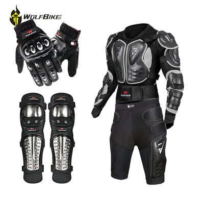Motocross Motorcycle Jacket Shorts Guard Knee Glove Protective Gear Body Armor