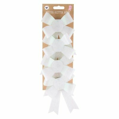 Easter Glitter Bows Basket Ribbon Decorations Bows For Arts & Craft