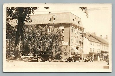 Rumrill's Block HILLSBORO New Hampshire RPPC Rare Vintage Photo 1941