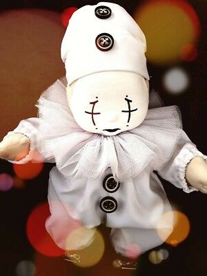 My Child Doll 1980's Collectable Fully DressedSad Clown Pierrot