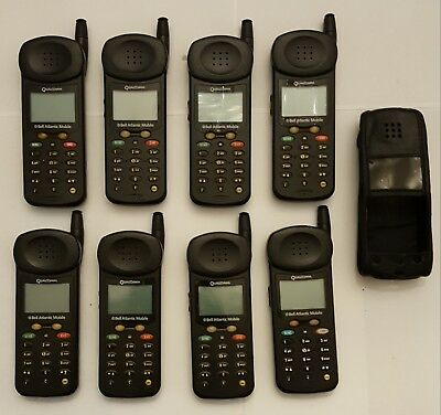 Lot of 8! Vintage Qualcomm QCP 860 AS IS | PH537 + 1 Phone Case