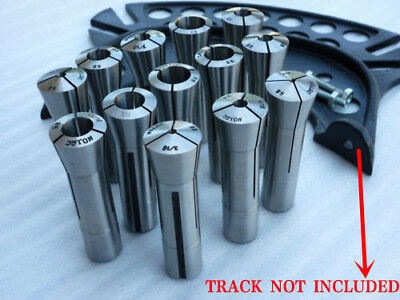 "13 PCS R8 Collet Set 1/8-7/8"" Mill Chuck Holder Tool For Bridgeport .0006 US"