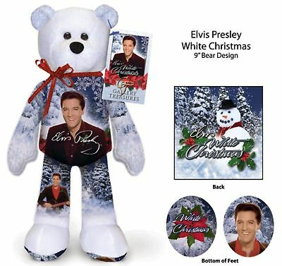 CHRISTMAS SALE -  Elvis Presley White Christmas Bear