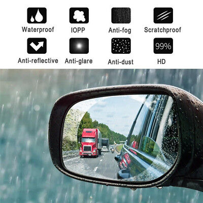 2PCS Auto Car Anti Water Mist Film Anti Fog Rainproof Rearview Mirror Protective