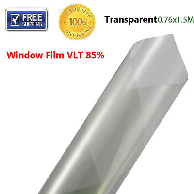 1 x Transparent Auto Side Window Solar Film Tint 0.5Mx3M UV Explosion-proof Film