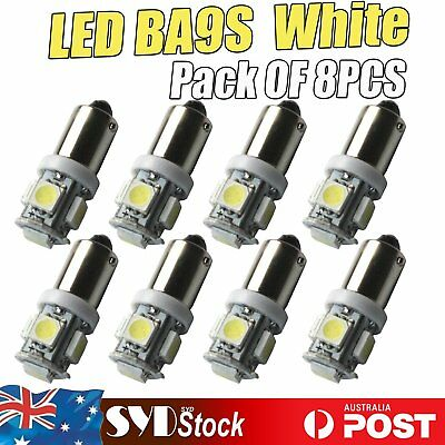White 8 x Led T11 BA9S 5SMD 5050 Car Map Dome License Plate Interior Door Lights