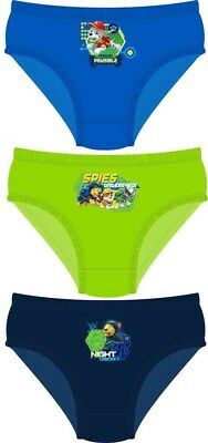 Boys Movie characters paw patrol 100% cotton 3 pack briefs nickelodeon