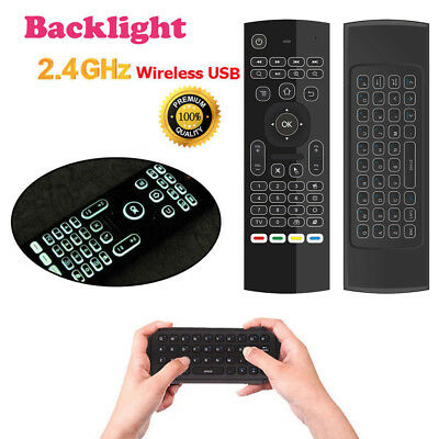 2 4G BACKLIGHT AIR Mouse Wireless Keyboard Remote Control for PC TV