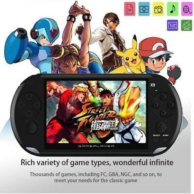 "X9 Portable 5.0"" 8GB 64Bit Video MP3 Player Camera Handheld Retro Game Console"