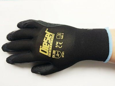 12 Pair Diesel Protection Pro-Tekk General Purpose Gloves (Small to 2X-Large)
