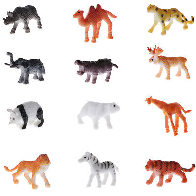 Kinder Tier Spielzeug Set Wildlife Lion Tiger Zebra Modell Figuren