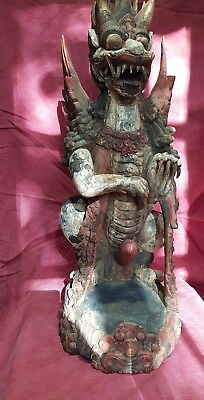 Balinese Indonesian House/Temple  guardian Statue/Sculpture/Figurine