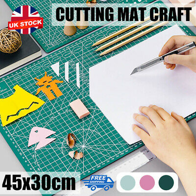 A3 Cutting Mat Self Healing Non Slip Craft Quilting Printed Grid Lines Board UK