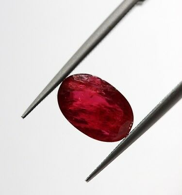 1.60 Ct Natural Old Mine Burma Spinel Loose Unheated Oval Certified Red Gem A+