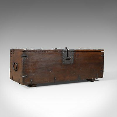 Antique Carriage Chest, English, Victorian, Pitch Pine, Trunk, Circa 1900