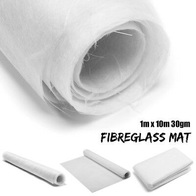 1m x 10m Fibreglass Surface Tissue Mat Matting 30gm Glass Fiber Roll Marine