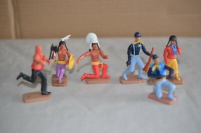 Lot Of 1960s - 70s Cowboys & Indians Plasty Toys Germany