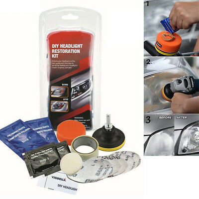 Car Headlight Lens Restoration System Professional Restorer Polishing Tool Kit E