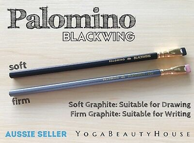 Palomino Blackwing 2pcs* Set Soft Regular + Firm 602 Pencils (drawing art pen)