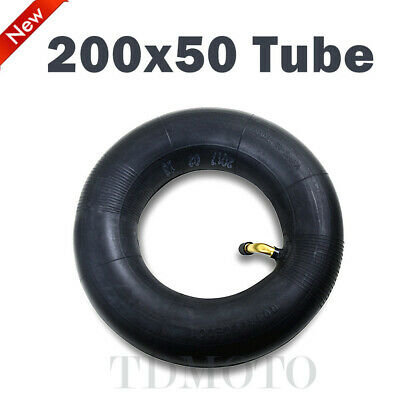 200 x 50 Butyl Rubber Inner Tube with Angled Stem For Scooter E100 E200 Scooter