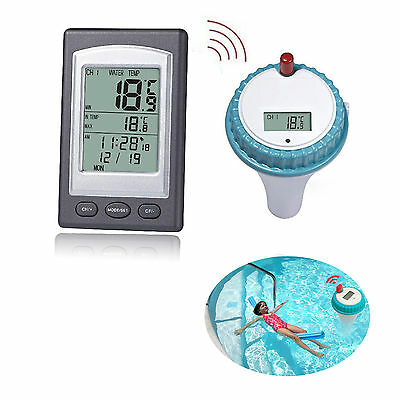 Wireless Digital Swimming Pool Thermometer SPA Floating Tempreture Tool Remote