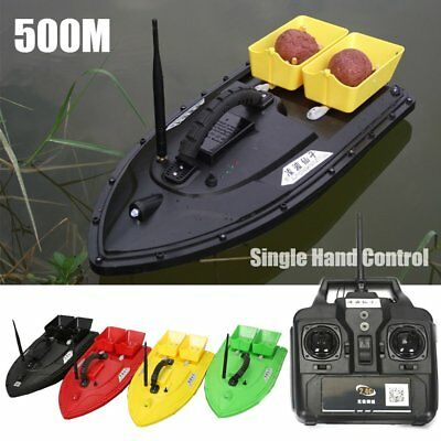 6 Colors 500M Wireless RC Fishing Bait Boat With 2 Motors Single Hand Control