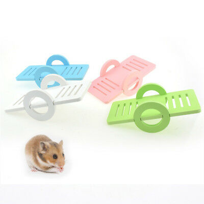 New Wooden Play Toy Pet Hamster Rabbit Bird Toy Seesaw Playground Exercise
