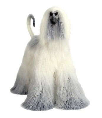 Collectibles Animals Blond with Gray Afghan Hound Cute Plush Toy Stuffed Animal