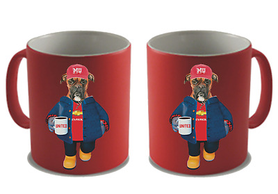 Personalised Football Mug - Pick Any Team & Dog Breed - Add Your Own Message
