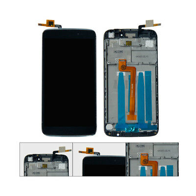 BLK TOUCH SCREEN Digitizer+LCD+Frame Repair Alcatel One