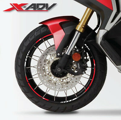 X-ADV 750 motorcycle wheel decals rim stickers stripes xadv Laminated red x adv