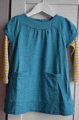 Mini Boden Girls Cotton Jersey Striped Sleeve Tunic Top Dress Age 1.5-2 Years