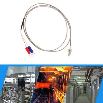 M6 Screw Probe K Type Thermocouple 1m Industrial Temperature Sensor Cable Wire