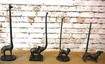 Cast Iron Animal Toilet Paper Holders Free Standing Novelty Kitchen Roll Holders