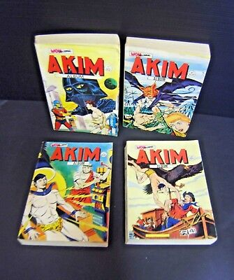 Lot De 4 Album Akim N° 82.107.108.111 Mon Journal