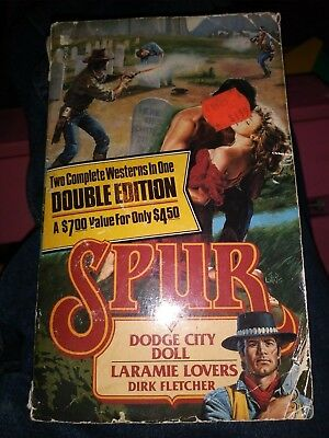 Spur Double: Dodge City Doll Laramie Lovers Dirk Fletcher 1992 paperback book