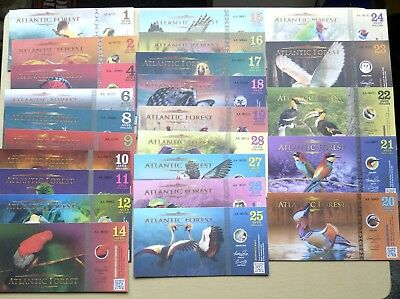 Atlantic Forest 24 X Different Birds / Fantasy Notes 2016