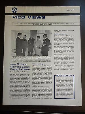 Volkswagen Vico Views May 1966 Magazine For VW Insurance Company (AN)