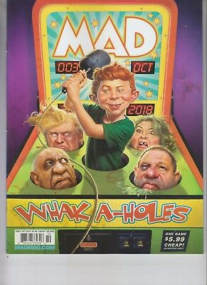 Donald Trump Whak A-Holes Mad Magazine Octoberr 2018 No Label Issue #3