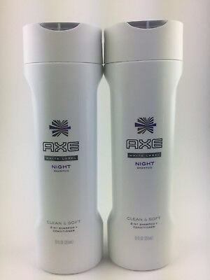 2 Axe White Label 2in1 Shampoo - Night Clean & Soft 12 oz
