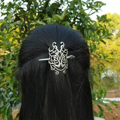 Viking Hairpins Celtics Knot Norse Hairpin Clip Stick Hair Women Jewelry Vintage