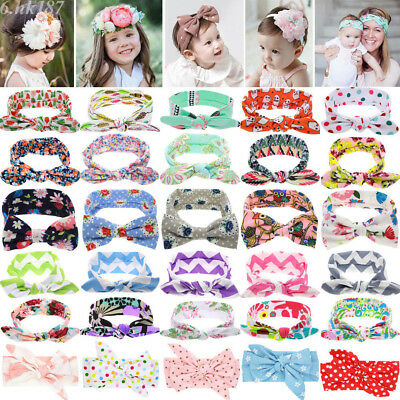 Kids Newborn Headband Cotton Elastic Baby Hair Band Girls Bow-knot Accessory Lot