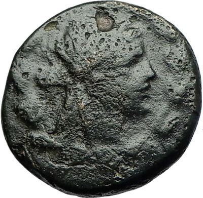 SMYRNA in IONIA - Poet Homer of Odyssey on Authentic Ancient Greek Coin i71168